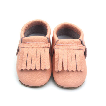 Pink Flat Toddler Baby Moccasins Leather Baby Shoes