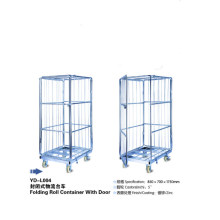 Four Wheels Folding Metal Steel Storage Cages