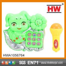 (Luz E Música) Elétrica Brinquedo De Plástico Musical Telefone Musical Com Microfone