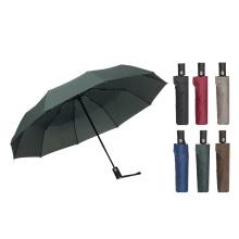 Hot Sale Automatic Cheap Promotional Pure Color 3 Fold Umbrella for Sale