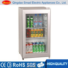transparent showcase mini bar refrigerator small size