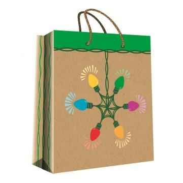 CHRISTMAS SERIES KRAFT GIFTBAG12-0
