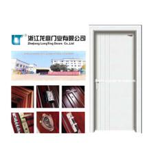 Puerta de madera interior sólida con color blanco (LTS-118)