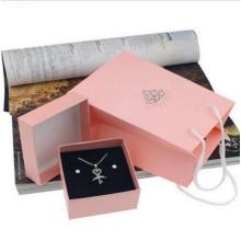 Rosa Karton Schmuckschatullen für Halsketten