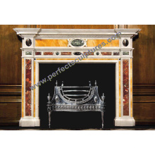 Carved Marble Fireplace with Carving Stone Mantel (QY-LS377)