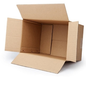 Flat and hard packing paper shipping box