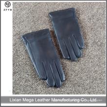 Guantes de cuero del invierno del color negro de los niños fábrica