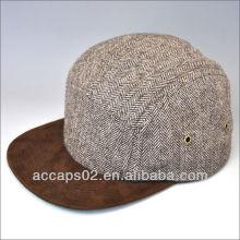 Custom snapback de 100% de lã em branco 5