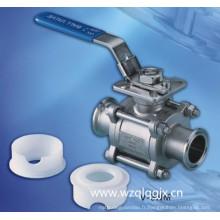 Vanne à bille en acier inoxydable sanitaire en acier inoxydable 3PC