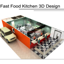 Shinelong Hotel Küchenausstattung Fastfood Küchendesign
