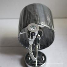 Гостиницы декоративные хром Прикроватный настенный светильник с тканевым абажуром