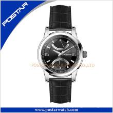 Relógio suíço de quartzo com pulseira de couro genuíno