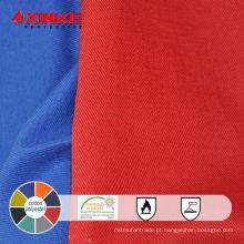 resistência térmica tecido de poliéster de algodão fr para vestuário de trabalho
