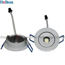 1W Flexível Round dimmable LED teto Spot Light (DT-TH-1E)
