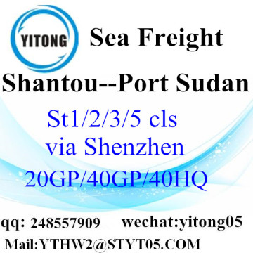 FCL LCL Container to Port Sudan