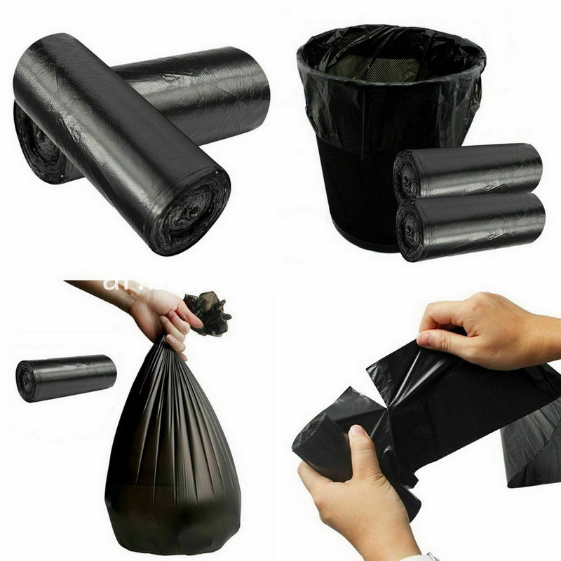 Rubbish Garbage Bin Liners Kitchen Toilet Black Waste