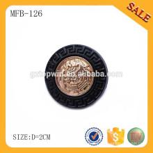 MFB126 Fashion round shape metal frog button clothing type with logo