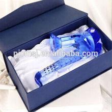 Синий Кристалл стекло саксофон модель музыкальный инструмент для домашнего украшения & подарки Co-m007 сигнала