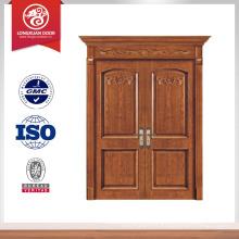 exterior double door finished wood door skin                                                                         Quality Choice