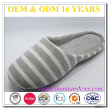 Wholesale comfortable striped cloth Indoor slipper