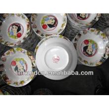 Haonai 2014 bulk ceramic Snow White dinner/soup plate