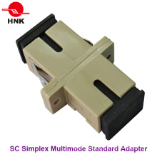 Sc Simplex Multimode Standard Plastic Fiber Optic Adapter