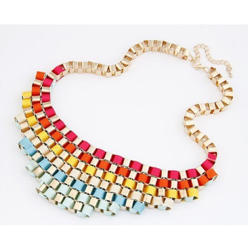 Gold Plated Retro Necklace Chain Twist Weave Collar Necklace