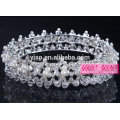 Perles en cristal de diamants concours de beauté couronnes de tiare de mariage