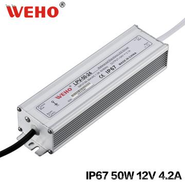 Fonte de alimentação do diodo emissor de luz de LPV-50-12 50W 12V 4.2A para a iluminação