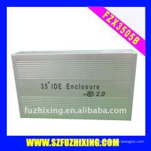 Caja de aluminio de 3,5 pulgadas IDE de disco duro