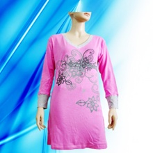 100% Cotton Lady′s Discharge Print Nightdress