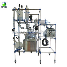 Three Layer Glass Reactor 100L(Auto-control System with jacketed glass reactor)