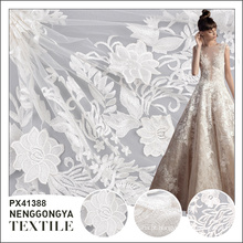 Made in China Alta qualidade moda festa vestido de noiva tecido de renda