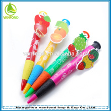 Пользовательские плоды клип новизна шариковая ручка для подарка