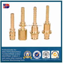 Brass Hex Inner Thread CNC Machine Parts