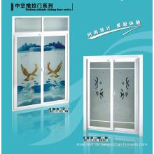 UPVC Badezimmertür mit Mattglas und Lüftungsklappe
