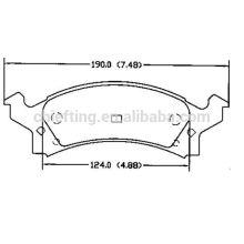 Auto pièces de rechange D506 12510005 pour Buick Chevrolet Pontiac Oldsmobile Auto-patron plaquette de frein