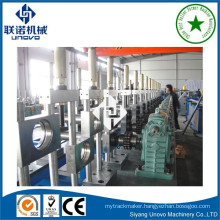 Warehouse shelving rack pillar roll forming machine