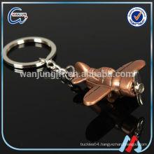 Factory supply 3d airplane key chain as souvenir