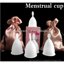 Venta al por mayor de silicona de grado médico reutilizable Lady Menstrual Cup FeminineReusable Lady Menstrual tazas de silicona menstrual médico de silicona