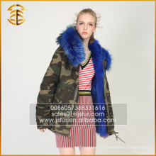 Venta al por mayor OEM Service Chaquetas Genuino Fox Brand Warm Fur Parka