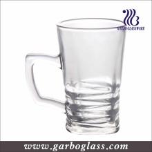 Tasse en verre transparent de 100 ml avec poignée