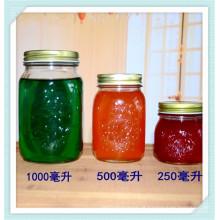 Vidro de 250ml 500ml 1000ml Jam JarJar, frasco de vidro de mel, Mson.