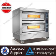 Gewerbliche Restaurant Backöfen 4-Trays Electric Deck Oven