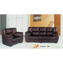 Black Leather Sofa, Office Sofa, Living Room Sofa (619)