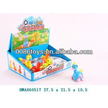 Newest high quality wind up small baby plastic cartoon animal toy