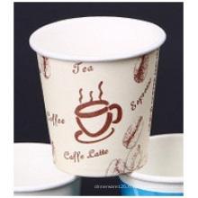 Double tasse de papier imprimée de PE, tasses adaptées aux besoins du client de papier de logo