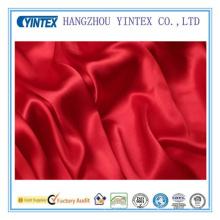Красный шелковистый шелк Charmuse Твердая ткань