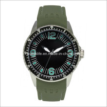 Arm Special Luminous Stainless Steel Rubber Men Watch