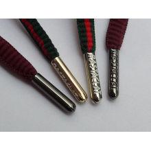 Logotipo grabado personalizado aglet / cordón que inclina la película para el cordón redondo